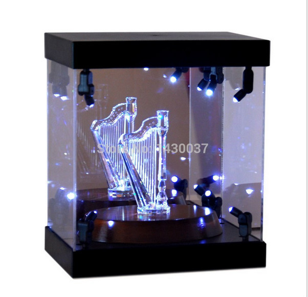 Acrylic Box With Led : Mb display box acrylic case led light house model