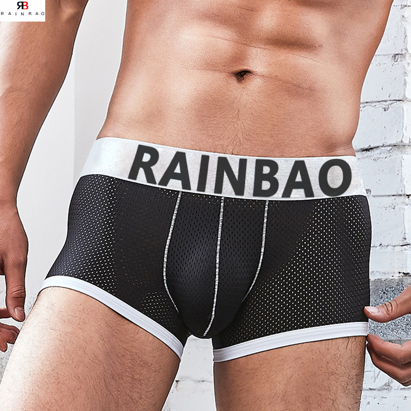f10a2a632555 Hot Sale Breathable Mens Mesh Sheer Underwear With Custom Band Logo ...