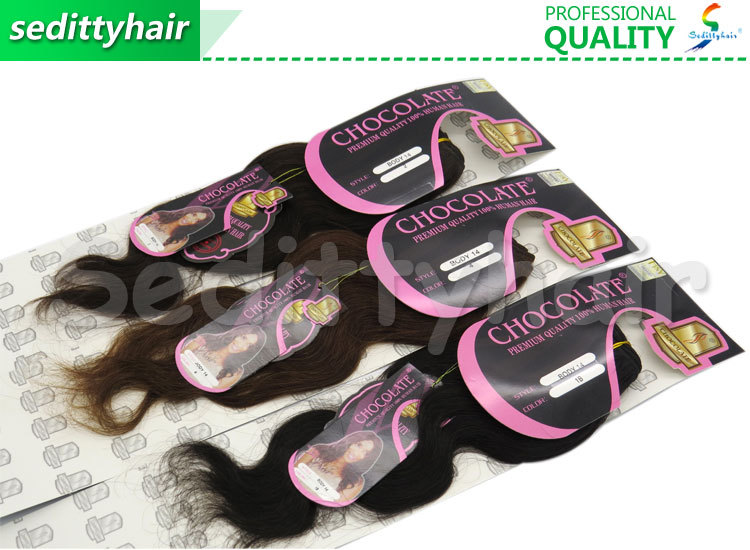 Body Wave Chocolate Premium Quality 100 Human Hair With Brown Color