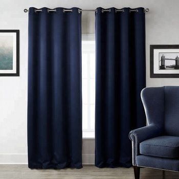 Solid Blackout Curtains For Living Room Bedroom Window Treatment Blinds Finished Drapes Modern Blackout Curtain
