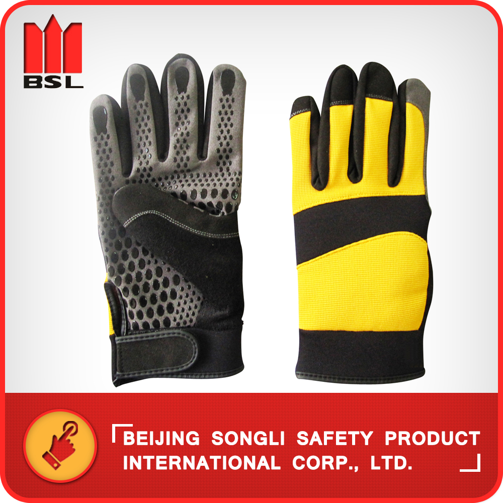 China Manufacturer SLG-GJ209-F Cotton Fabric Back Working Safety Gloves