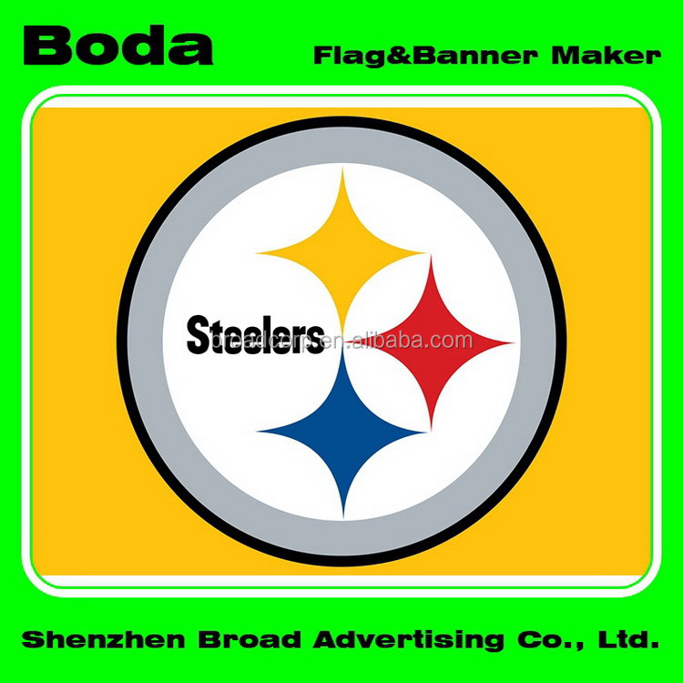 4x6inch Polyester Nfl Pittsburgh Steelers Hand Waving Flag