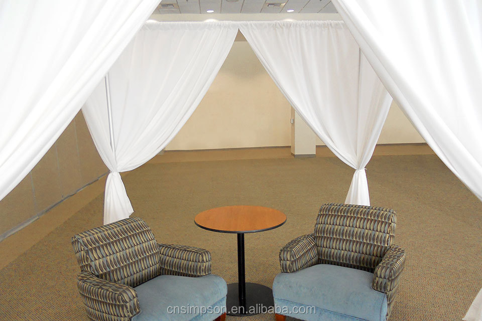 drape more supplies tall and ft pipes ea curtain comes pipe frame with pin drapes
