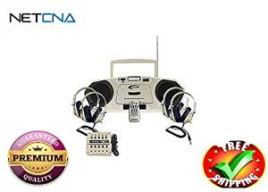 Califone Music Maker 2385PLC - boombox - CD, Cassette- With Free NETCNA Printer Cable - By NETCNA