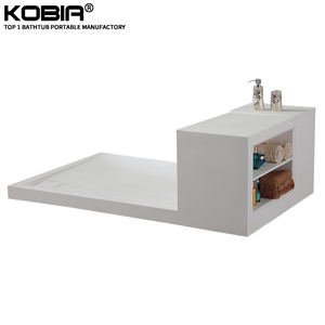 Sanitary ware white matt deep Shower Pan base with fast drain artificial stone shower base