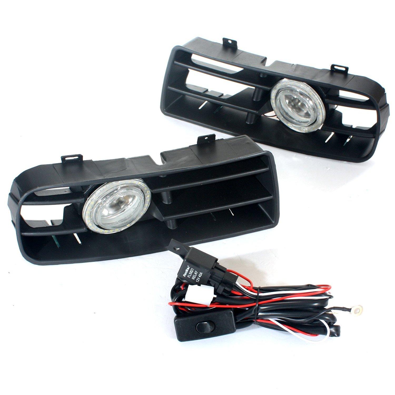 GVDOR Fog Light LED Front Bumper Grille Driving Fog Light DRL Lamp Set For VW Jetta Bora Mk4 99-04 1999 2000 2001 2002 2003 2004
