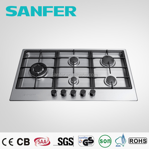 Euro Design Stainless Steel Built-in Kitchen 5 burners gas cooker/stove/hob
