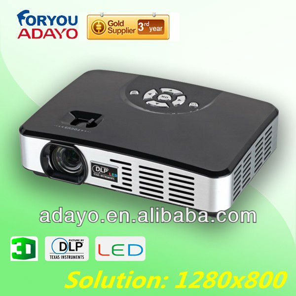 Factory offer Mini Projector With HDMI+AV+VGA+TV+720P+2G memory Lowest Price