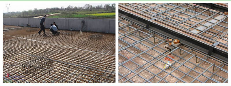 Concrete Reinforcing Steel Detailing : Building concrete pavement welding steel reinforcement