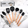 Silicone and nylon food grade kitchen utensils 8-piece set cooking cookware set