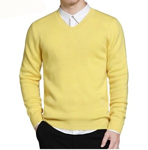 Sweater Men V-neck Mens Sweaters Pullover Men Classic Knitwear