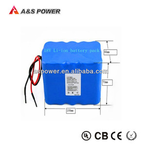Rechargeable 18650 5S93P 6600mAh 18v li-ion battery pack for power tools