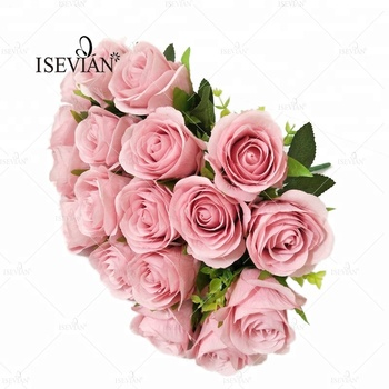 Isevian wholesale funeral decoration 18 heads dusty pink rose flower isevian wholesale funeral decoration 18 heads dusty pink rose flower mightylinksfo