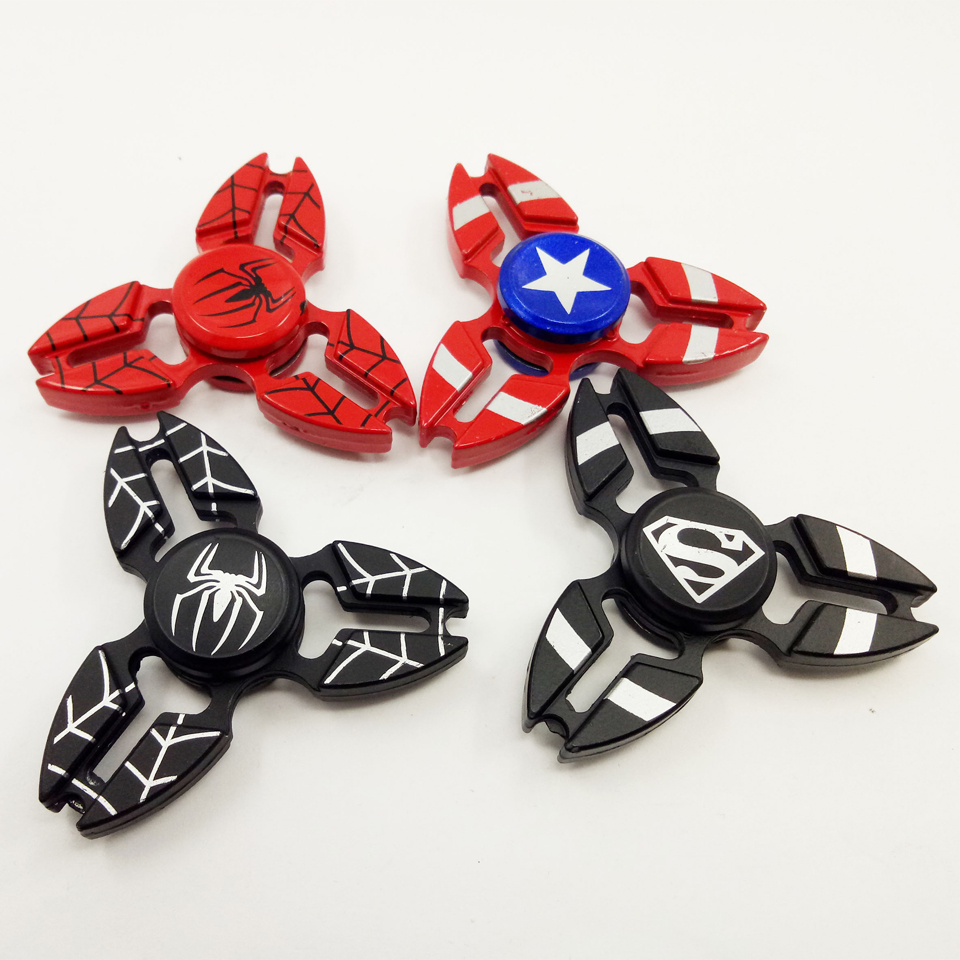 New design US hero Spider-man metal spinner cool and popular fidget spinner toy for kids