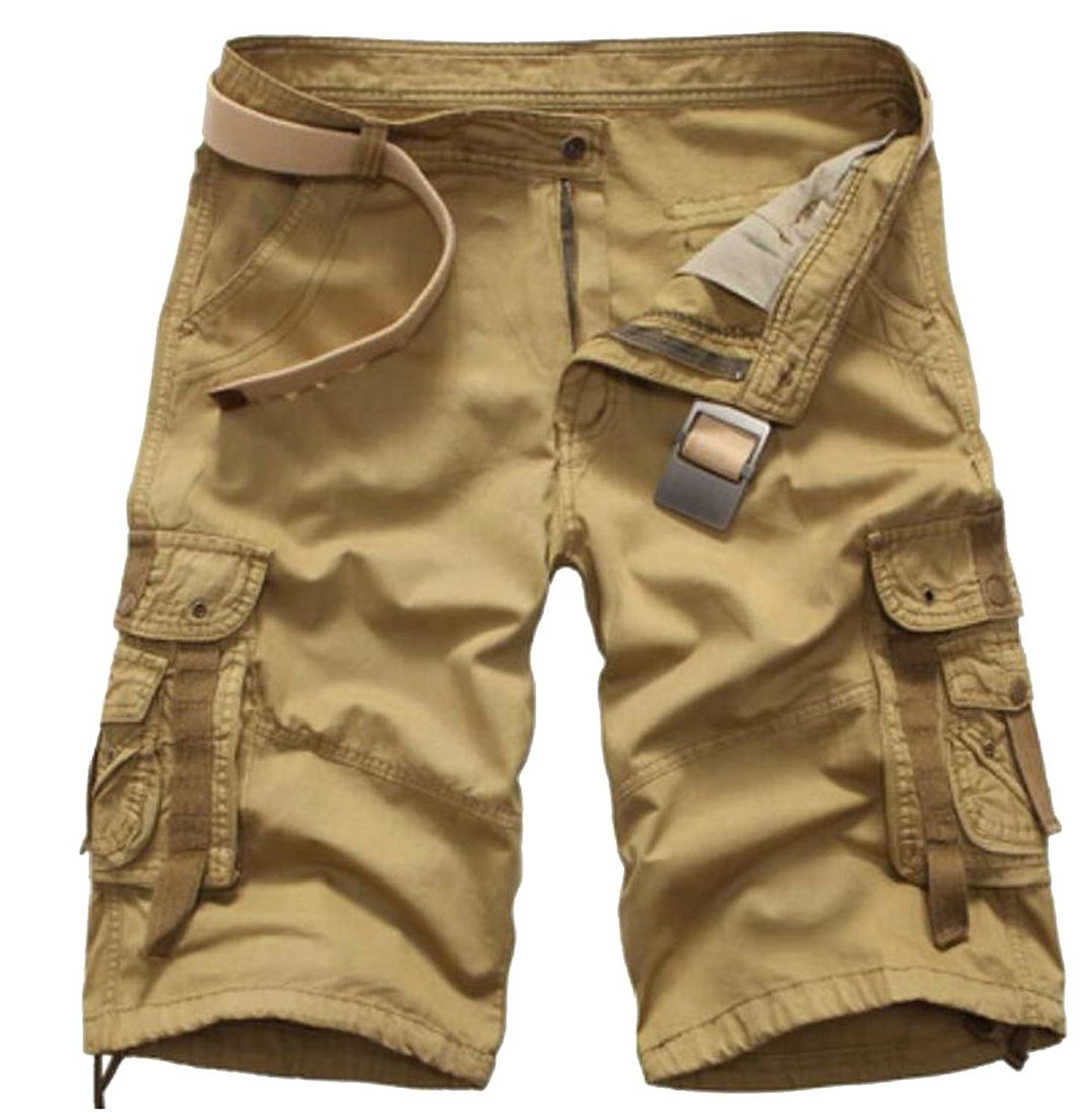 Generic Mens Fashion Casual Cargo Shorts,Mens Slim Fit Athletic Twill Cargo Shorts