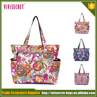 New arrival lightweight recycled nylon mummy flower diaper bags