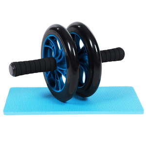 RA101 Dual Ab Power Wheel Roller Machine For Gym And Home Training With Knee Pad