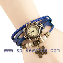 Vintage leather lady watch mix 15-20 different pendants