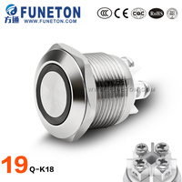 High quality ring light led touch light push button switch 5 color