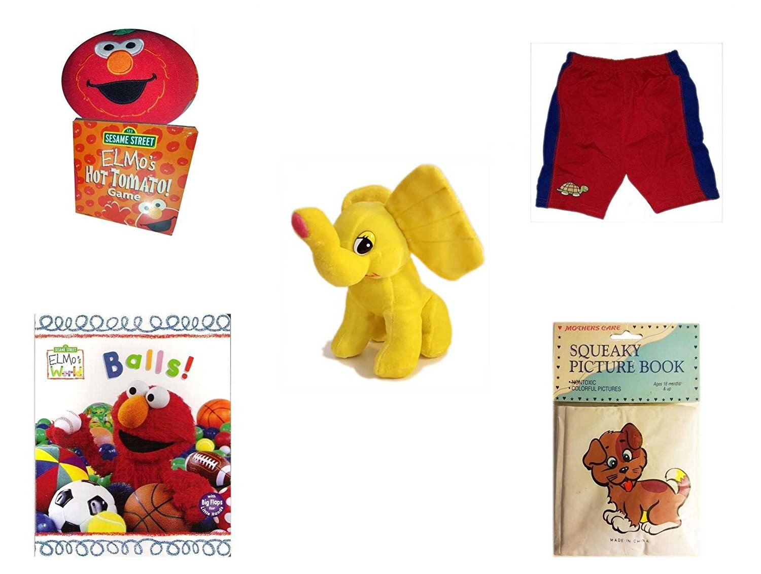 dd8cbe0c2b Get Quotations · Children's Gift Bundle - Ages 0-2 [5 Piece] - Giggling Elmo  Hot