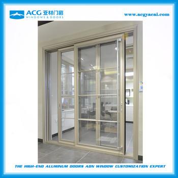 ACG Heavy Duty Grill Design With Fly Screen Aluminum Patio Sliding Glass  Doors