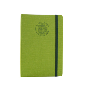 Logo printed recycled eco pu leather custom paper notebook
