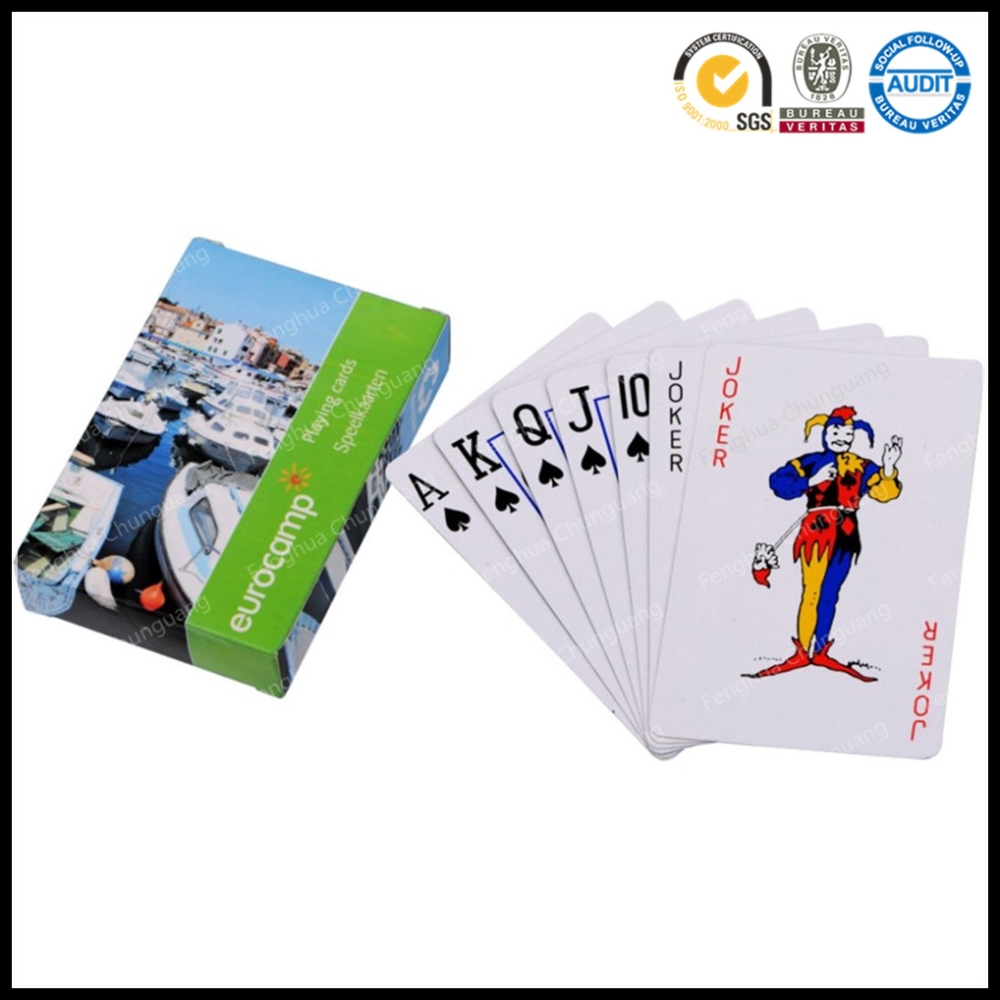 Bridge Size Advertising Paper Playing Cards Custom Printed Deck Of Cards