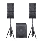 Jmei profissional sistema de home theater audio speaker line array ativo estúdio portátil monitor com bluetooth