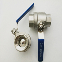 1pc 2pc 3pc ball valve SS304 SS316 small water switch stainless ball valve