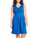 Women's Sleeveless Fit and Flare V-neck Casual Pleated Dress Plus Size