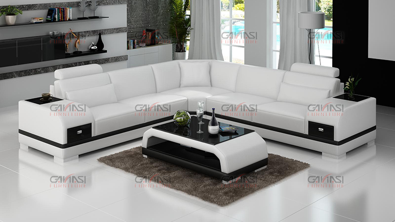 Ganasi Simple Corner Sofa Design Modern Corner Sectional