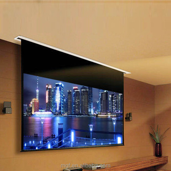 VGITW In Ceiling Projection Screen Balances High End Quality In Home Cinema  Projection With