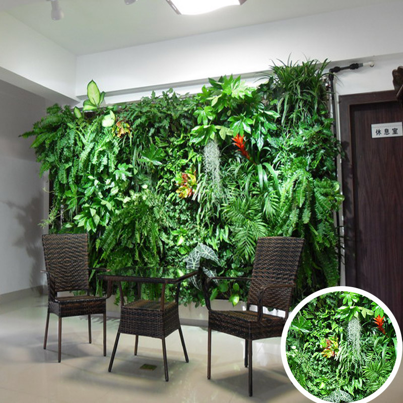 hot sale artificial vertical grass wall fake wall hang plant for indoor/ outdoor decoration