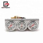 eCARsport 2inch Chrome Panel Oil Pressure Gauge Water Temp Gauge Amp Meter