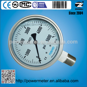 China manufacturer 100mm high pressure water pump meter 5000 psi 210 bar or kg/cm2