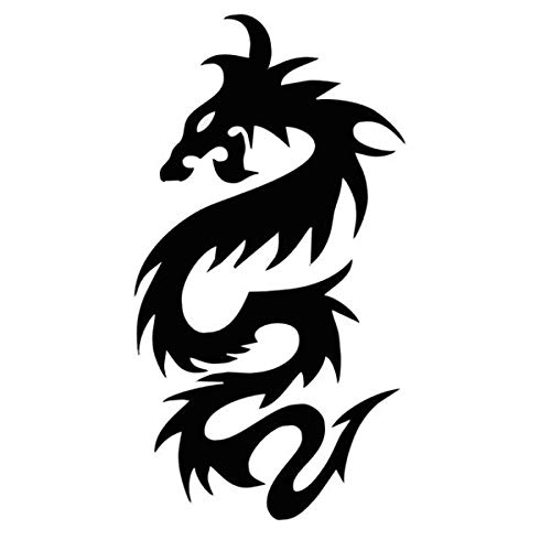 Gilded Black Lively Dragon Adults Half Arm Waterproof Water Transfer Printing Temporary Tattoo Sticker