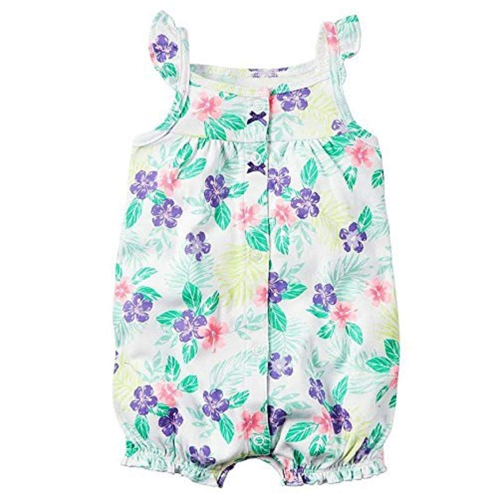 635b8f689 Get Quotations · Carters Baby Girls 1-piece Print Snap-Up Romper (24 Months,  white