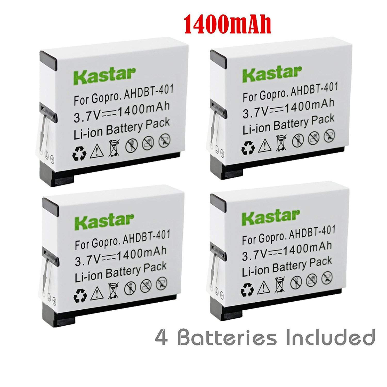Kastar Battery (4-Pack) for GoPro HERO4 and GoPro AHDBT-401, AHBBP-401 Sport Cameras