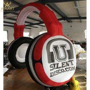 Giant inflatable headphone lighting advertising decoration DJ music