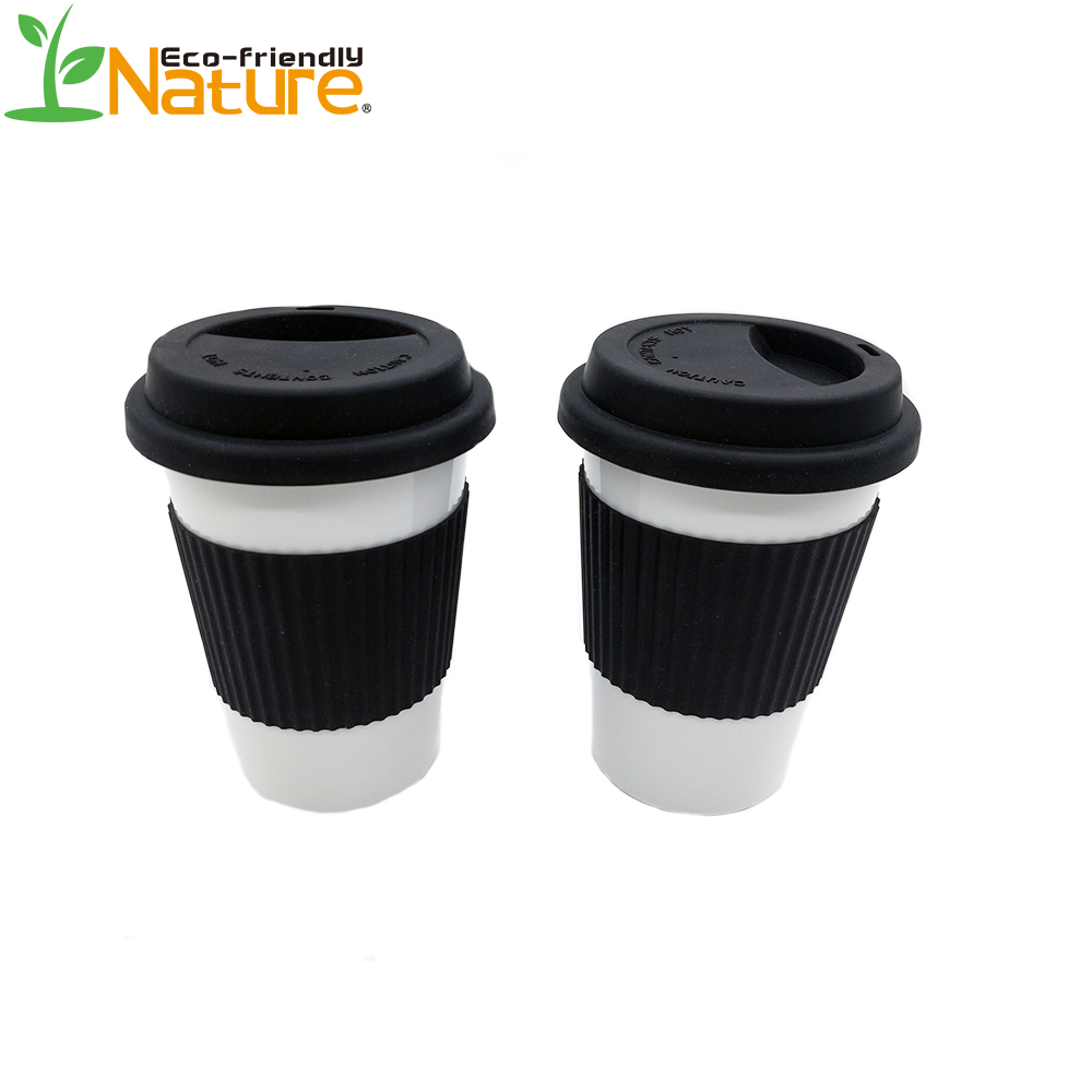 Hotsale Eco Friendly Compostable PLA Coffee Mug With Silicon Lid And Sleeve