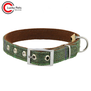 Pet accessories tweed dog collar
