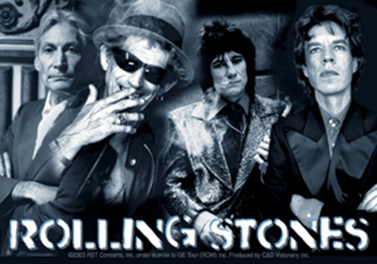 Licenses Products Rolling Stones Montage Sticker