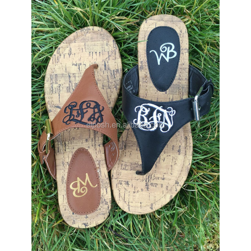 4fac2ea285e322 Wholesale Summer Personalized Thong Sandals Monogrammed Flip Flops ...