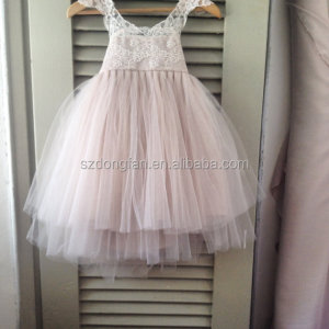 Flower Girls Lace Tutu Dress