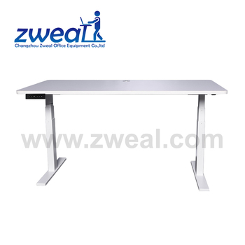 Green Automatic Height Adjustable Desk Legs
