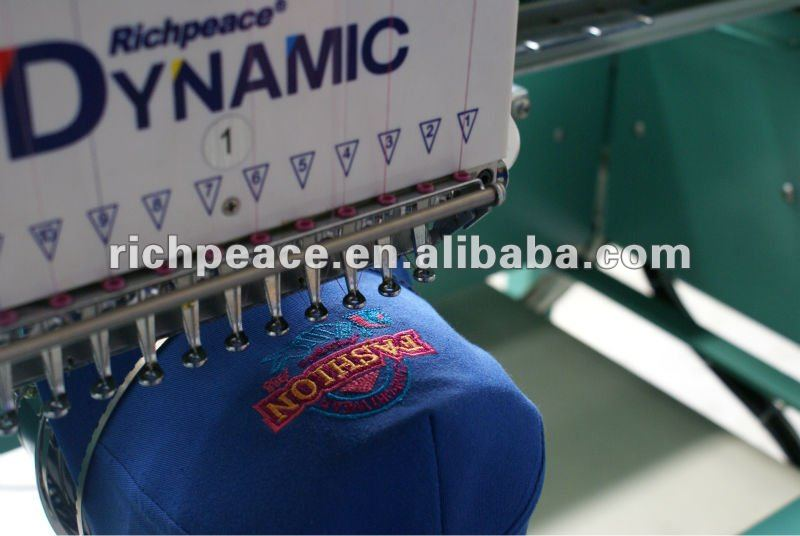 Computerized 1 head jeans T-shirt cap embroidery machine