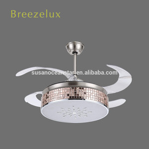 Supply simple modern 42 inch 4 blades sand nickel ceiling fan chandelier
