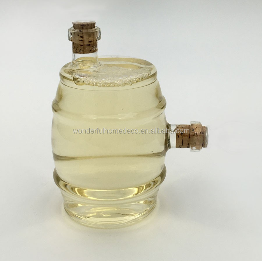 750ML Clear Glass Wine Bottle With Rose Inside