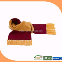 New product polar fleece fashionable stripe scarf with tassel
