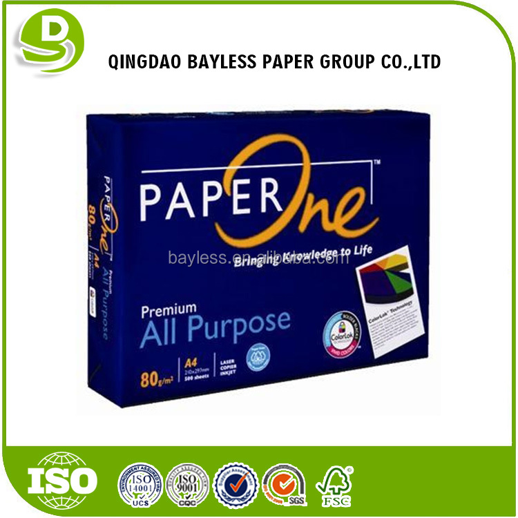 High quality printing papers /original paperone a4 paper one 80 gsm 70 gram